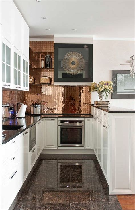 copper kitchen backsplash tiles 27 trendy and chic copper kitchen backsplashes digsdigs