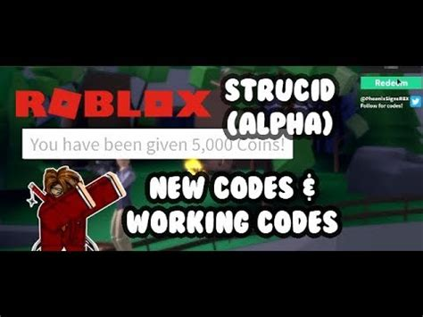 codes strucid alpha youtube