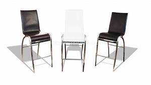 Chaise Pour Table Haute : tabourets mobilier cuir ~ Teatrodelosmanantiales.com Idées de Décoration