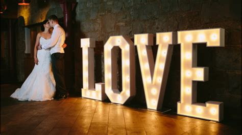 big light up letters light up love letters the word is love