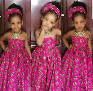 robe africaine pour les filles avec turban robe de filles With robe africaine enfant