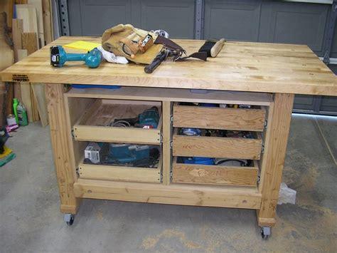 workbench plans  feet long shop workbench    tv