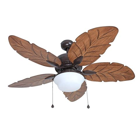 harbor breeze outdoor ceiling fan shop harbor breeze waveport 52 in weathered bronze indoor