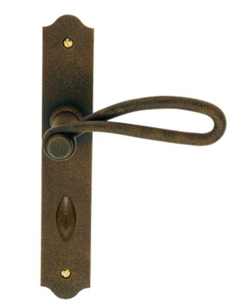 poign 233 e de porte d entr 233 e rustique en fer forg 233 imitation rouille sur plaque conda et d 233 conda