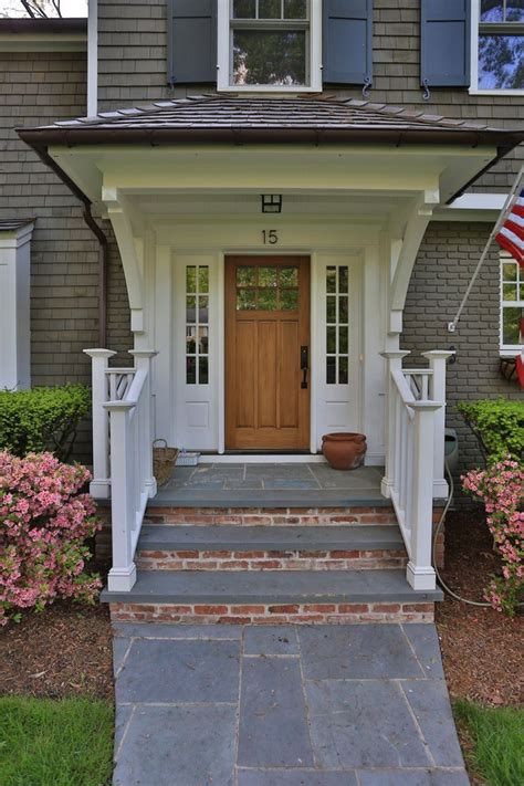 Home Design Ideas Front by Front Stoop Slate And Brick Awning The House We Don T