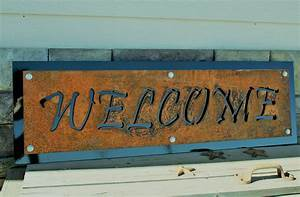 Metal, Welcome, Sign, Rustic, Black, Welcome, Sign, Ranch, Welcome, Sign, Outdoor, Welcome, Sign, Western