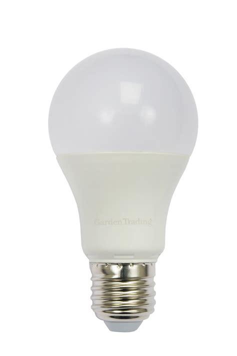 led e27 gls 10w 2700k light bulb garden trading