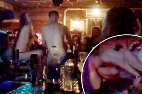 Nightclub Staff Cheer As Couple Have Sex On Bar In Russia