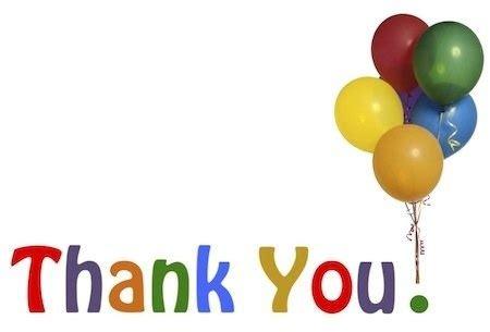 Thank You Balloons Clip Art