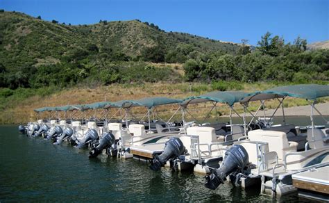 Pontoon Boats June Lake by Lake Piru Tour And Meeting On Site For United Water Board