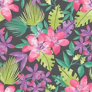 Rasch Paradise Flowers Pattern Tropical Floral Leaf ...