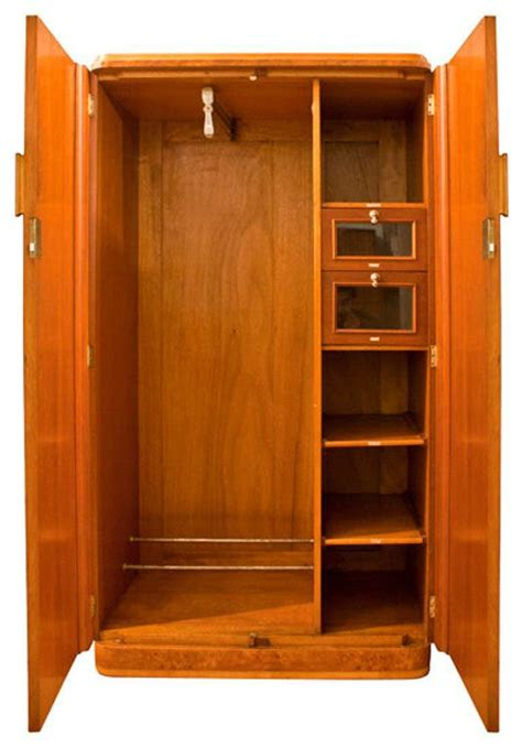 S Wardrobe Closet by An Deco Gentlemans Wardrobe Armoire At 1stdibs