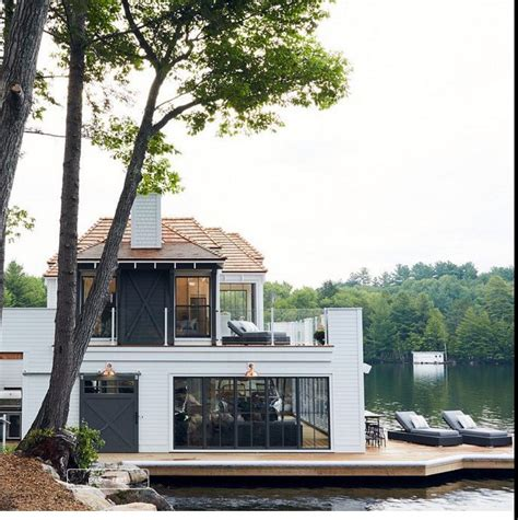 Lakeside Summer Home by Rachel Stansfield Home Exterior Lakeside