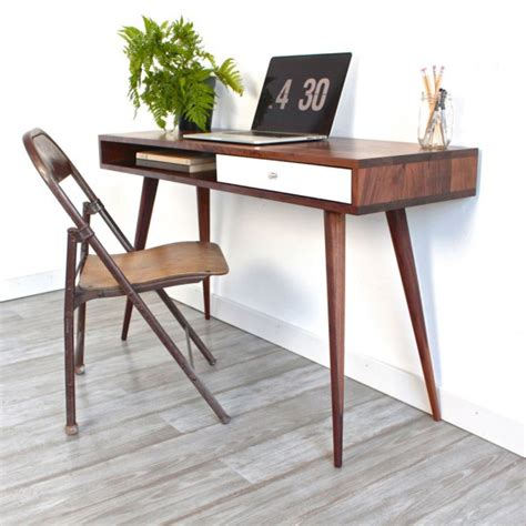 Computer Table For Small Spaces by Remodelaholic Diy Mid Century Modern Desk