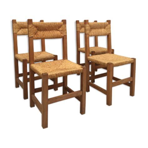 chaises paillées chaise design industrielle scandinave vintage d 39 occasion
