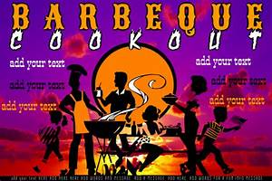 Barbecue Cook Out Off Event Reunion Party Family Template