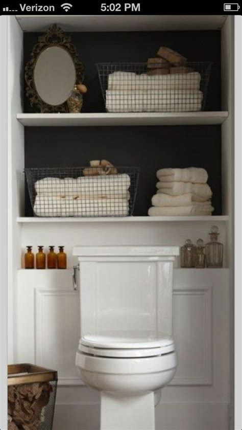shelving built   toilet   powder room