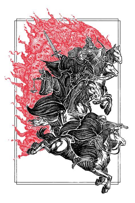 horsemen  watercolor print micah ulrich
