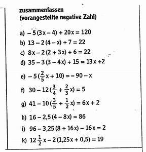 Terme Berechnen Klasse 5 : terme umformen terme mit negativen zahlen zusammenfassen ~ Themetempest.com Abrechnung
