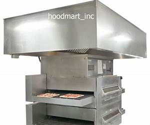 Commercial Kitchen Pizza Oven Exhaust Hood System Ventilation Vent 10 U0026 39  X 60 U0026quot  New