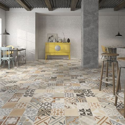 sol pvc imitation carrelage de ciment maison design homedian