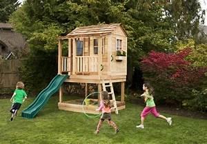 Grande Cabane Enfant : une grande maison pour les enfants jouer dans leur jardin de construction propre cabane ~ Melissatoandfro.com Idées de Décoration