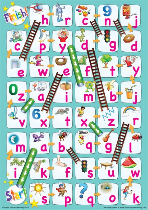 lowercase alphabet chutes ladders game super simple