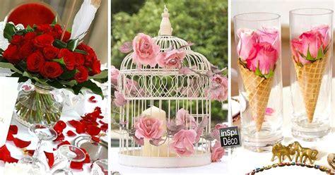 photo deco table mariage d 233 co tables de mariage avec des roses 20 id 233 es pour vous inspirer