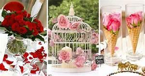 Idee Deco Pour Mariage : d co tables de mariage avec des roses 20 id es pour vous inspirer ~ Teatrodelosmanantiales.com Idées de Décoration