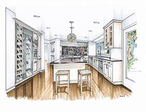 more recent kitchen renderings mick ricereto interior With kitchen colors with white cabinets with hand drawn wall art