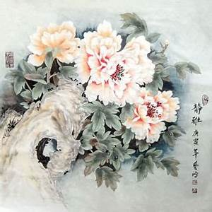 Page 5 Chinese Peony Paintings, China Peony Art Scrolls ...