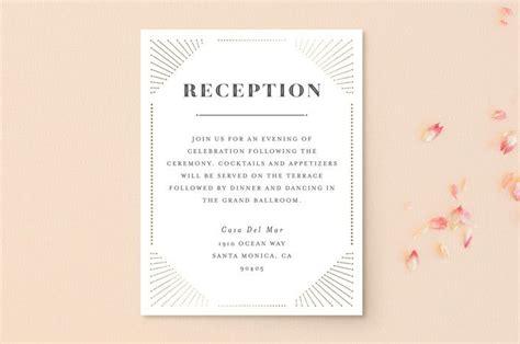 glam deco foil pressed reception cards  navy