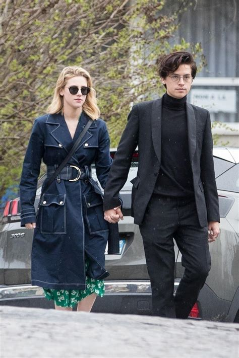 riverdales cole sprouse  lili reinhart spotted sharing