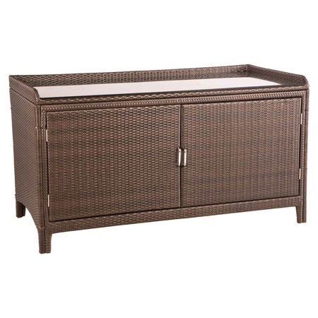 Outdoor Sideboard Console Table by Alfresco Home All Weather Wicker Outdoor Sideboard Console