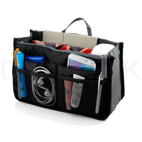 Women Lady Travel Insert Handbag Organiser Purse Large