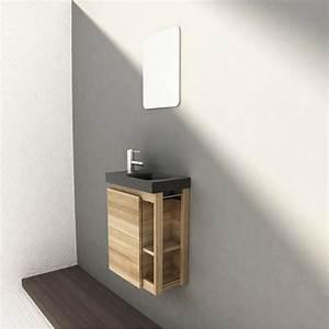 meuble lave mains avec miroir fairway leroy merlin With meuble lave main