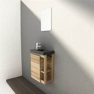 meuble lave mains avec miroir fairway leroy merlin With salle de bain design avec lave main ikea