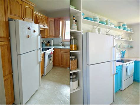 budget friendly before and after kitchen makeovers diy a budget friendly turquoise kitchen makeover dans le