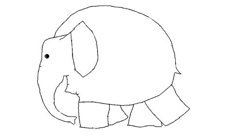 Elmer The Elephant Template by Blank Elephant For Using With Quot Elmer Quot By David Mckee