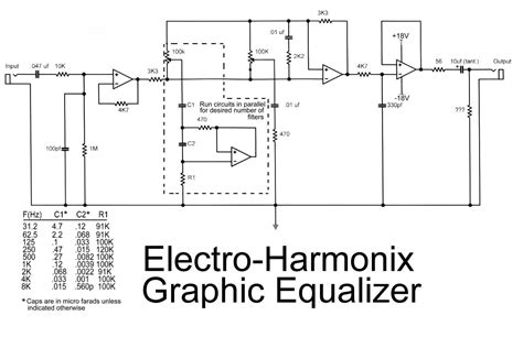 electro harmonix graphic equalizer circuit schematic