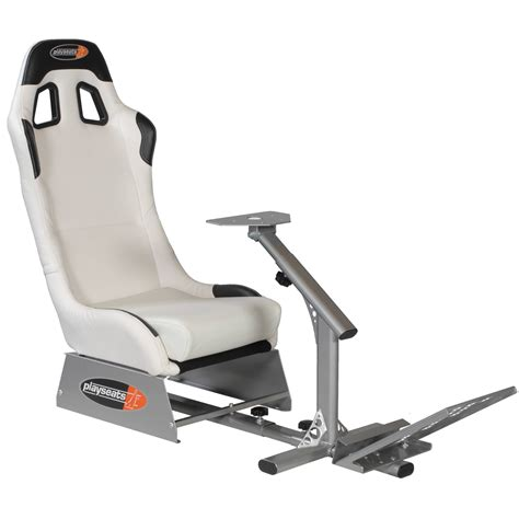 siege ps3 playseats evo siège simulation automobile blanc base