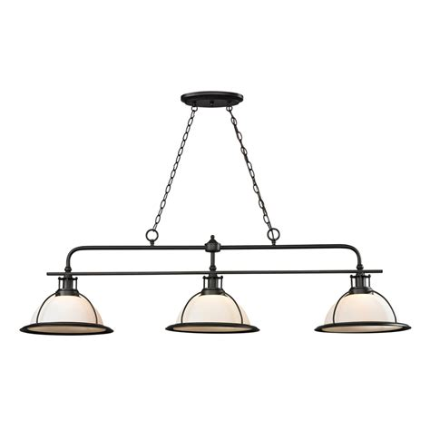 pool table lights lowes shop westmore lighting corkshire oil rubbed bronze pool