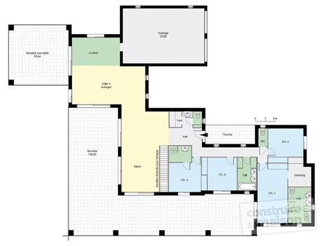 plan de maison de plain pied avec 4 chambres maison de plain pied 4 dé du plan de maison de plain