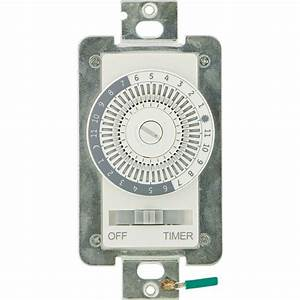 Defiant 15 Amp 24-hour Indoor In-wall Mechanical Timer Switch-49829