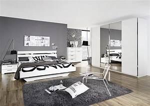 Komplettes Schlafzimmer Kaufen : schlafzimmer mit bett 180 x 200 cm weiss hochglanz woody ~ Watch28wear.com Haus und Dekorationen