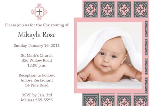 baptism card template baptism invitation card template free baptism