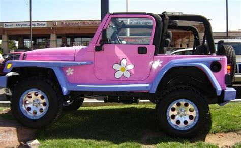 pink convertible jeep jeep wrangler