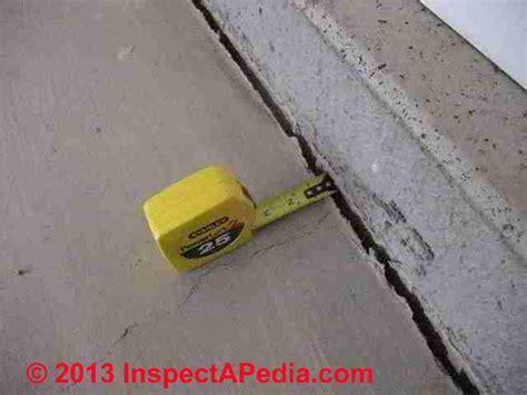 Concrete floor crack evaluation guide, shrinkage gap