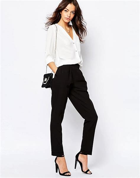 new look new look peg leg tailored trouser