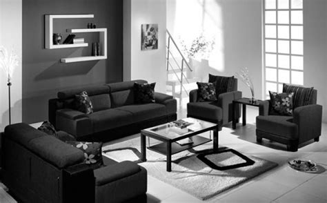 Black And White Living Room Viewing Gallery For Brown